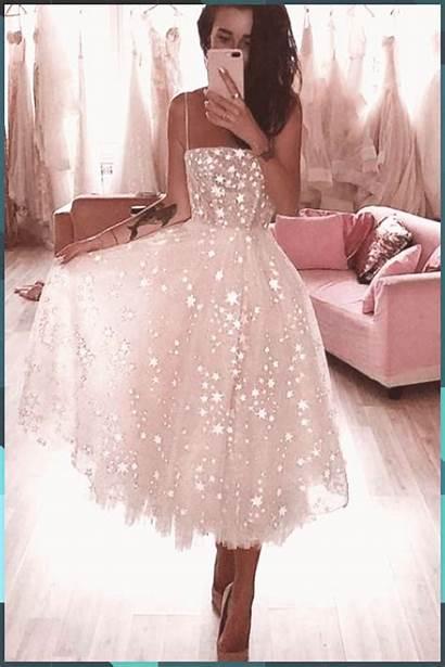 Prom Dresses Spaghetti Strap Tea Length Tulle