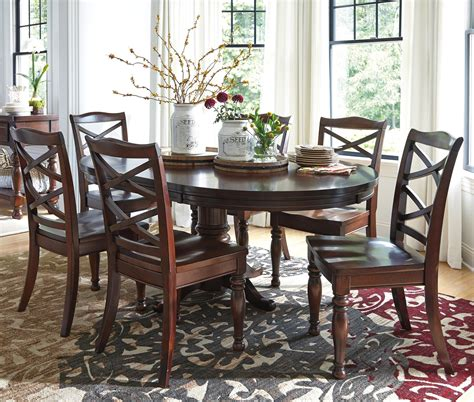 ashley furniture round table ashley furniture porter 7 piece round dining table set