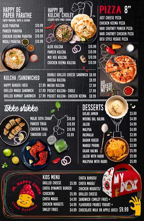 Food Menu - Happy Singh Street Eats