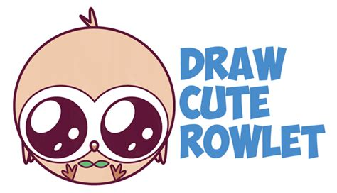 cute rowlet archives   draw step  step drawing