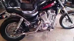 95 Suzuki Intruder 1400 With Cobra 2 U0026quot  Drag Pipes