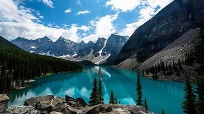 Landscape Nature Desktop Wallpapers Lake Moraine Background