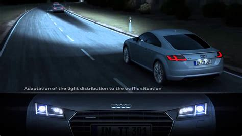 audi matrix headlights audi matrix led headlights in the audi tt youtube