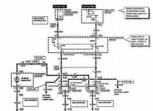 Ford F53  1997  - Wiring Diagrams - Headlamps