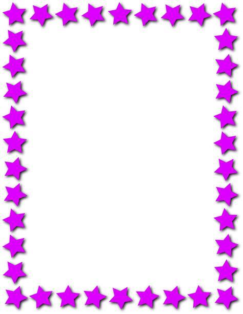 star frame purple pageframesstarborderstarframe