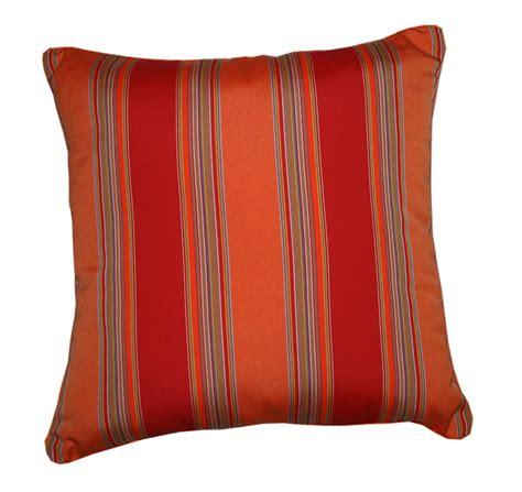 sunbrella outdoor pillows throw pillow indoor outdoor 22 quot square sunbrella stripe