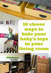 10 ways to hide toys in your living room mummy alarm for Organizing living room family picture ideas