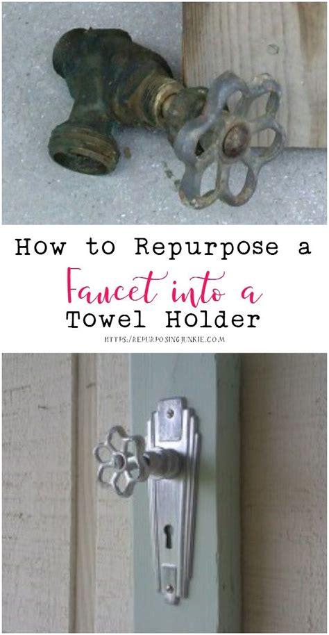 repurpose  faucet   towel holder cheap