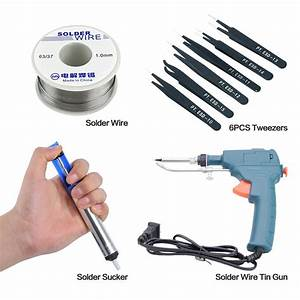 60w Auto Electric Soldering Iron Gun With Flux 2  Solder