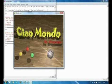 Librerie Python by Python 2 7 Librerie Pygame Ciao Mondo 3d