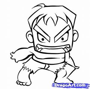How to Draw Chibi Hulk, Step by Step, Chibis, Draw Chibi ...