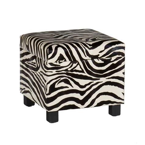 Zebra Ottoman Walmart - safari storage ottoman in zebra room