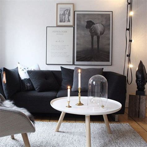 salon canapa noir daco bois ophrey com deco salon blanc noir prélèvement d