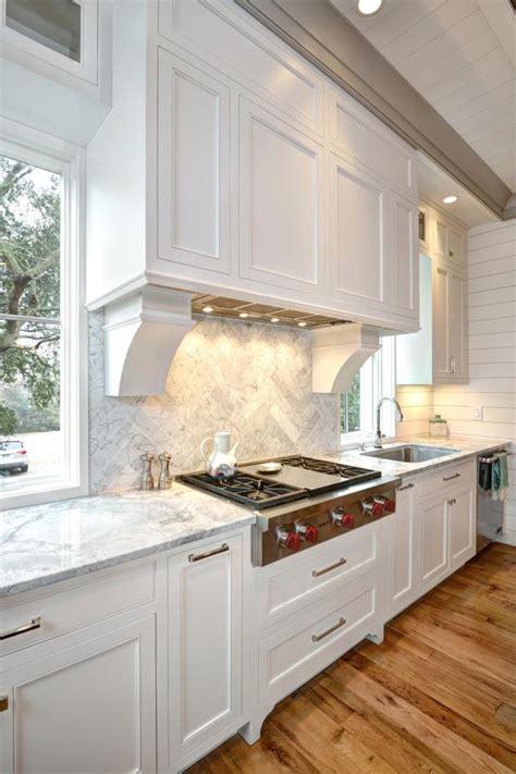 coastal style kitchen  reclaimed wood floors