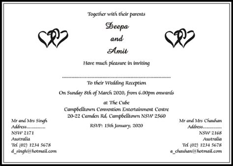 sle wedding reception program kerala hindu wedding invitation card matter wedding