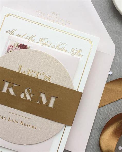 kristen michaels gold rose gold blush wedding