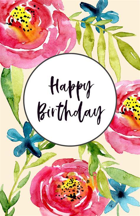 printable birthday cards paper trail design