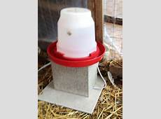 Make A DIY Chicken Water Heater In 4 Minutes And For $4