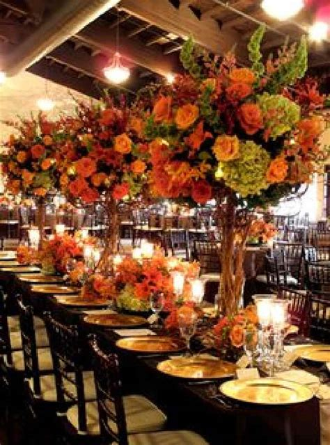 fall wedding centerpieces on a budget