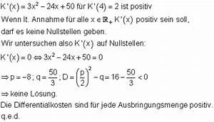 Ausbringungsmenge Berechnen : l sungen differenzialrechnung vbka iv ~ Themetempest.com Abrechnung