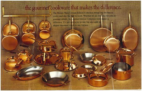 solid copper paul revere ware gourmet  crepe suzette souffle pan fry skillet ebay