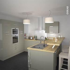 Idee relooking cuisine cuisine classique couleur argile for Idee deco cuisine avec meuble salle a manger chene clair