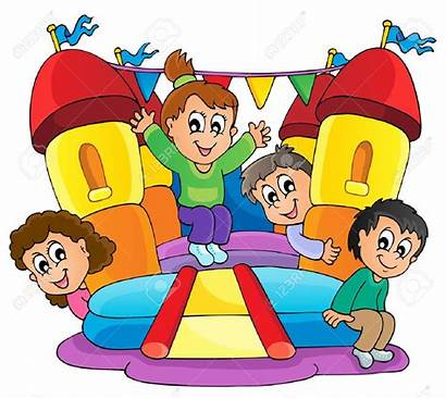 Castle Play Clipart Cartoon Bouncy Clipground Showing