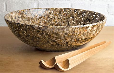 river rock bowl river stones bowl the green head
