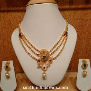 3 gram gold earrings three layer gold peacock necklace with earrings south