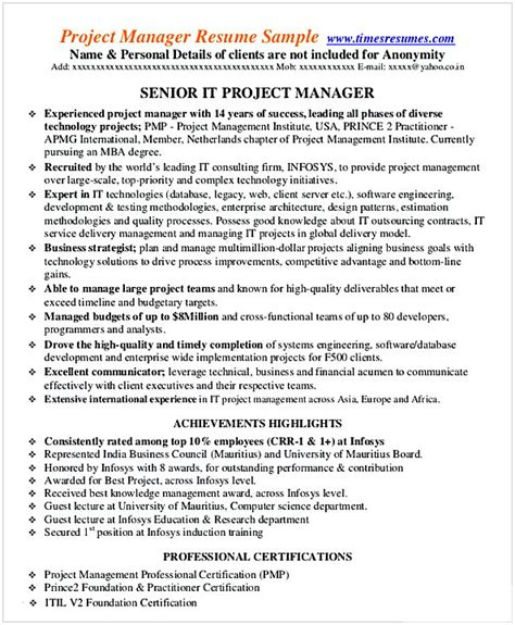Entry Level Project Manager Resume by Entry Level Project Manager Resume
