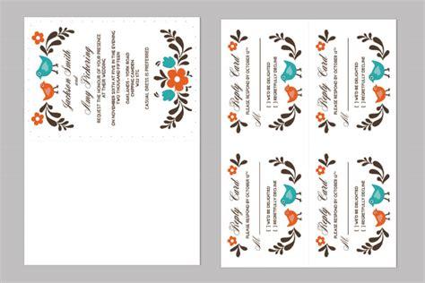 DIY Folksy Wedding Invitation and RSVP