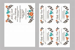 diy folksy wedding invitation and rsvp With wedding invitation template 4 per page
