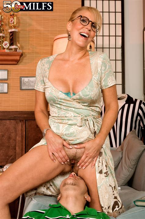 Mature Lady Erica Lauren Hikes Up Her Dress And Seduces A