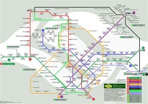 singapore future mrt lrt map updated 171 lesterchan net