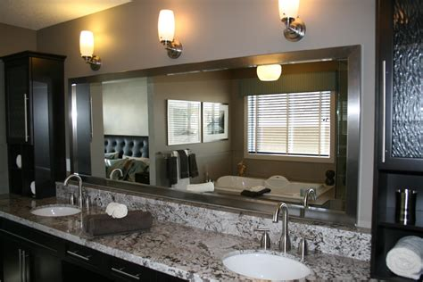 Specific to your bathroom, wall mirrors can be a variety of shapes and sizes to fit your space best and match your decor. 20 Inspirations Large Framed Bathroom Wall Mirrors ...