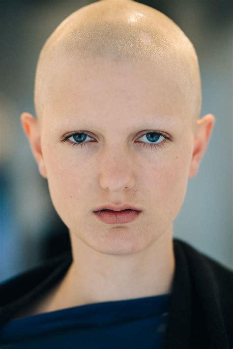 mick estelle bald head women shave eyebrows super
