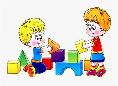 Clipart Playing Friends Nicely Circle Kindergarten Boys