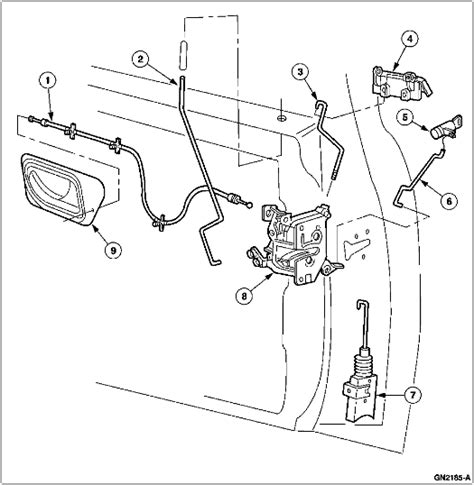 ford ranger diagrams  replace  door lock actuators