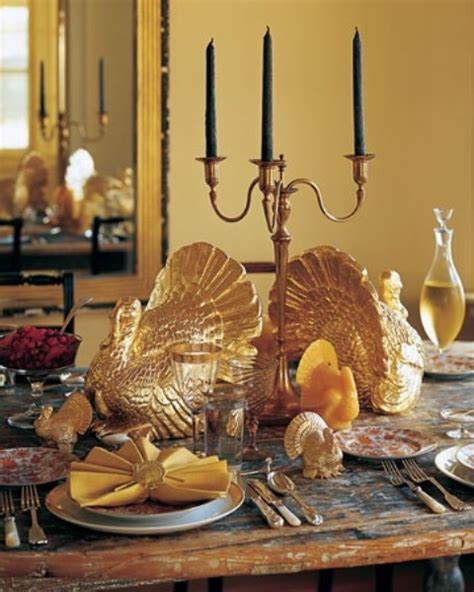 gold thanksgiving decor ideas digsdigs