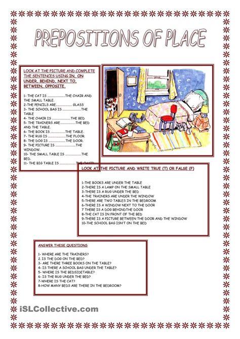 preposition  place  prepositions grammar book esl