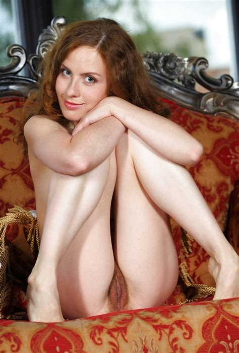 Redhead Eva J Shows Her Red Hairy Pussy Russian Sexy Girls