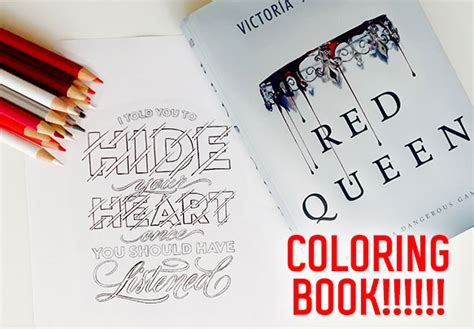 red queen coloring book  officially happening
