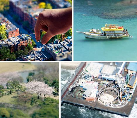 real life size  miniature  tilt shift photographers