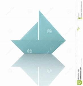 Origami Bateau à Voile : bateau voile de papier d 39 origami bleu illustration stock ~ Dode.kayakingforconservation.com Idées de Décoration