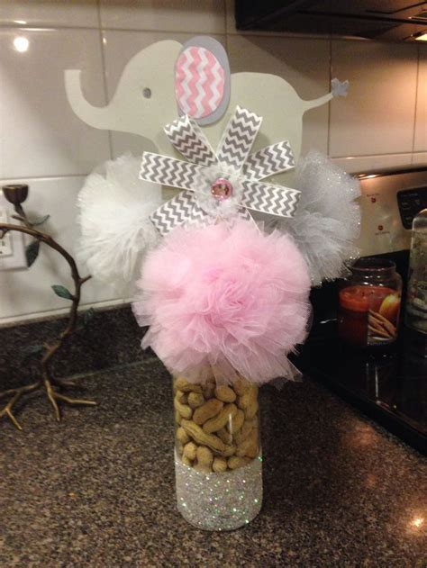 baby girl shower centerpieces baby shower elephant themed centerpiece crafts created