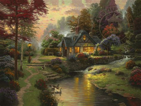 kinkade cottage painting stillwater cottage kinkade studios