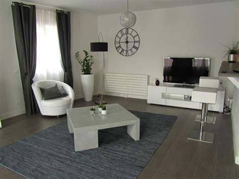 deco cuisine gris et blanc idee peinture salon noir et blanc