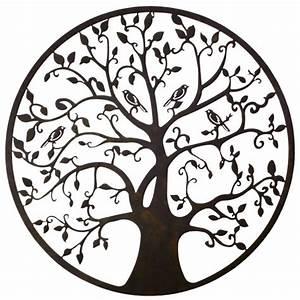 Arbre De Vie Deco : grande applique murale fronton style arbre de vie d coratif fixer en fer patin marron noir 1 ~ Dallasstarsshop.com Idées de Décoration