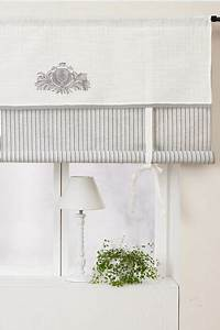 White and gray romantic roll up curtain just for home for Roll up curtains designs