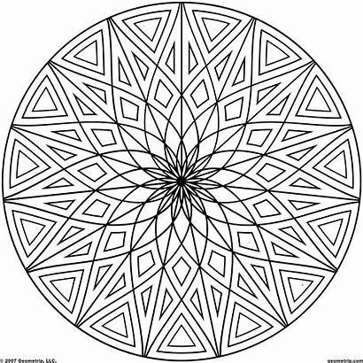 Circle Coloring Pages Pattern Printable Getcolorings